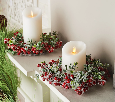 Berry and Leaves Candle Rings & Jingle Bell Tree