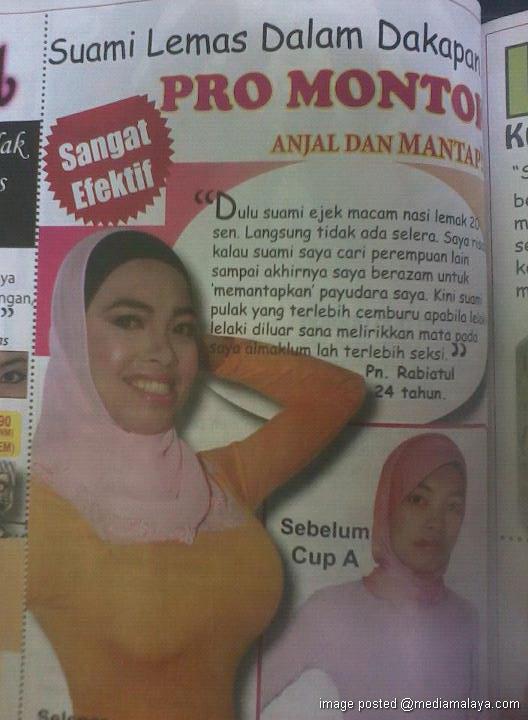 Ini la iklan besarkan payudara paling melampau di Malaysia. Dengan