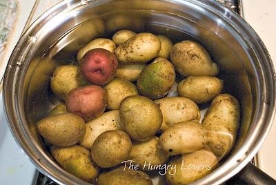 boiled tiny new potatoes