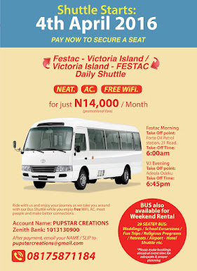 Neat, Comfortable and Convenient ride to work. Festac to V.I Bus Shuttle