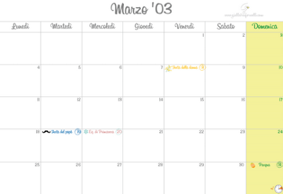 MONTHLY PLANNER #2 MARZO 2013
