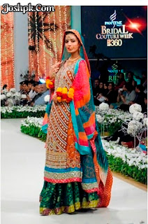 Pakistani Designer Mehndi Dresses For Function 2013