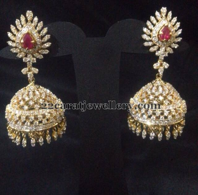 Changeable Stone Diamond Jhumkas Collection