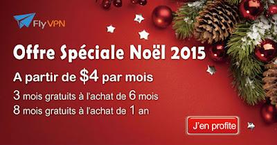 Offre Spéciale Noël FlyVPN 2015