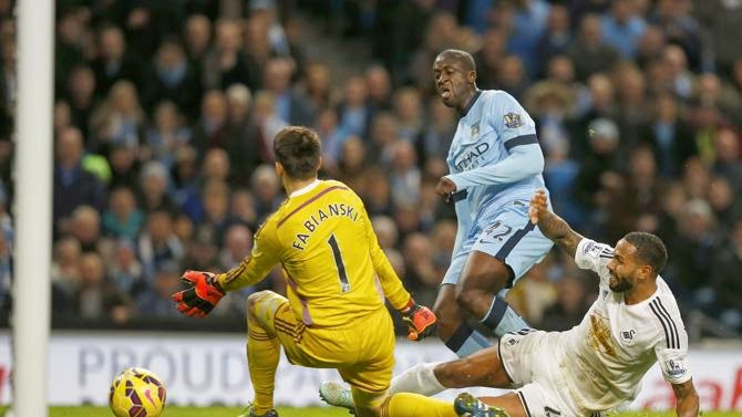 [Premier League] VIDEO Manchester City 2-1 Swansea Gol Highlights