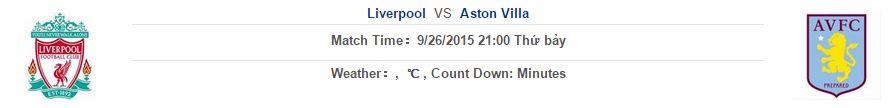 Ngoại hạng Anh Liverpool vs Aston Villa link 12bet