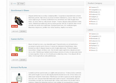 blogger store template detail view