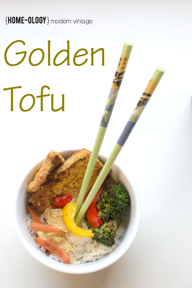 golden tofu recipe