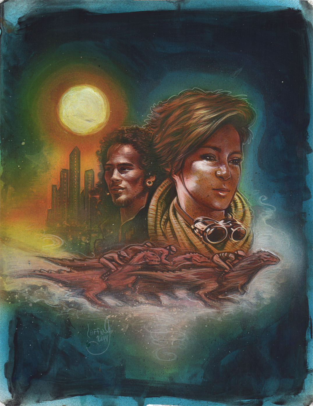 Book Cover Art Copyright ~ Jeff lafferty original art illustration