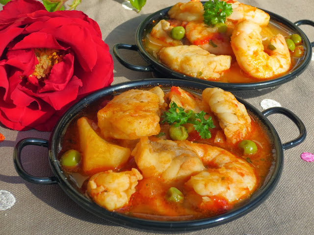 Caldereta de rape y langostinos ana sevilla cocina tradicional - Ana cocina facil ...
