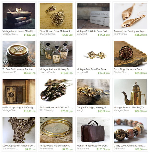 Antique Toffee Crunch Inspired Gifts on Etsy #vintage #decor #antique #gifts