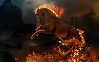 Fantasy Fire Horse wallpaper