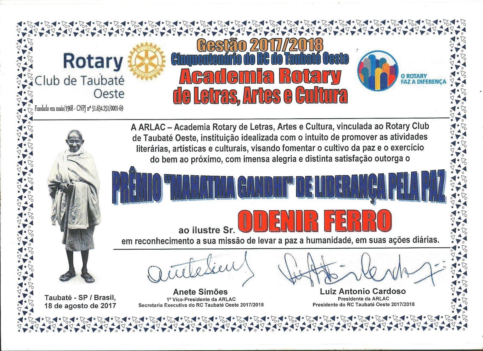 Rotary Club de Taubaté Oeste Academia de Letras, Artes e Cultura