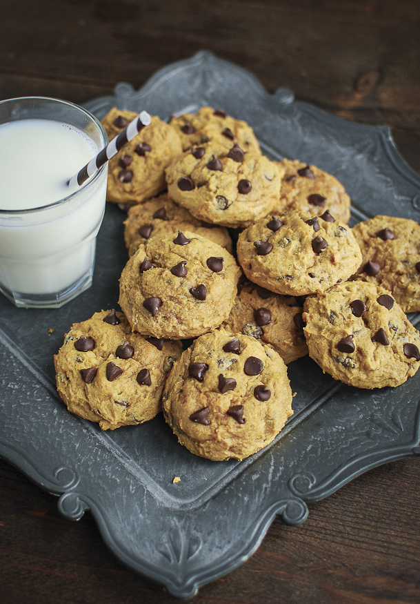 Dairy free pumpkin chocolate chip cookies