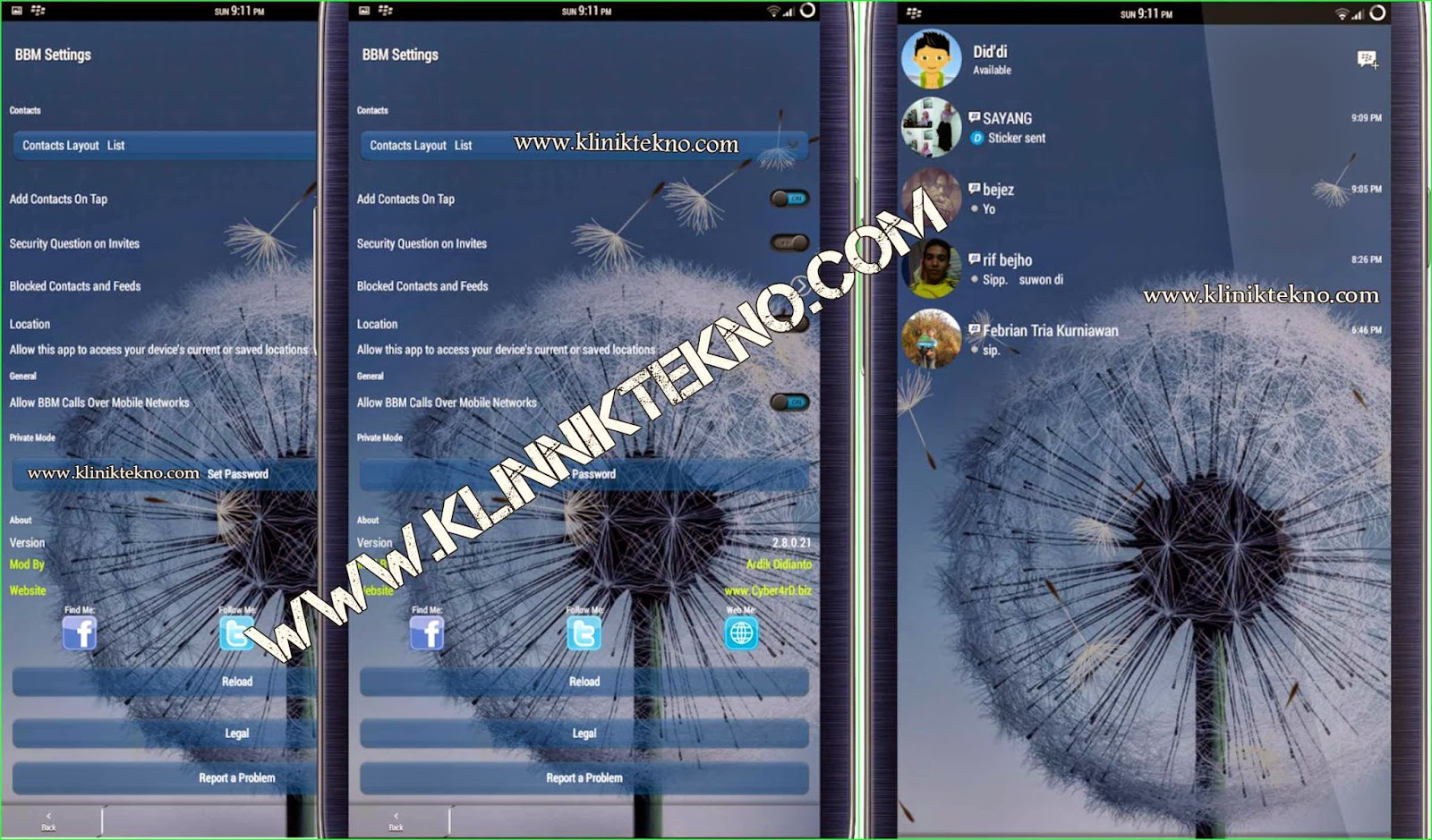 BBM-ID v2.8.0.21 Simple Transparent Only by Ardik Didianto