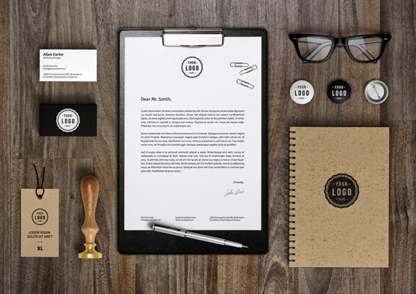 Download Branding Stationery Mockup Gratis - BRANDING MOCKUP BY GRAPHICBURGER