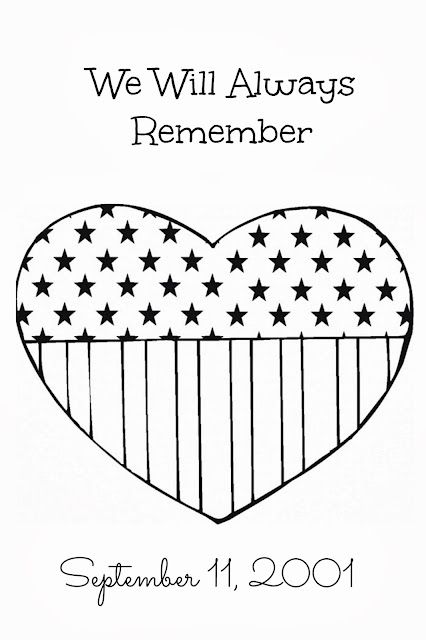 We remember 911 coloring pages