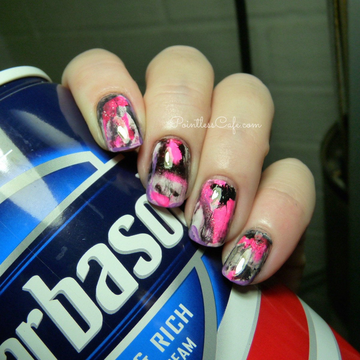 Shaving cream marble nail art pointless cafe shaving cream marble nail art prinsesfo Gallery