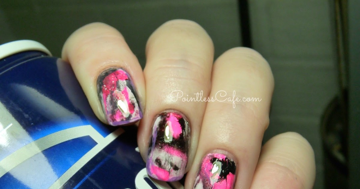 - Shaving Cream Marble Nail Art Pointless Cafe