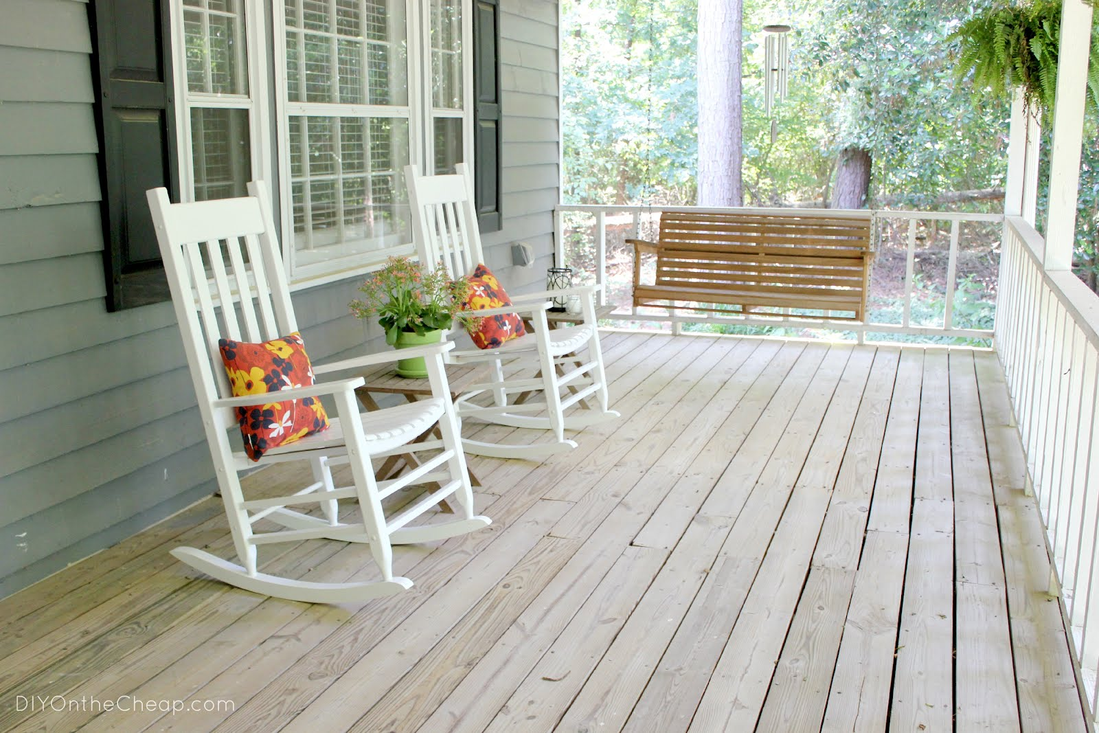 Diy on the cheap welcome to our home part 1 for Chairs for front porch