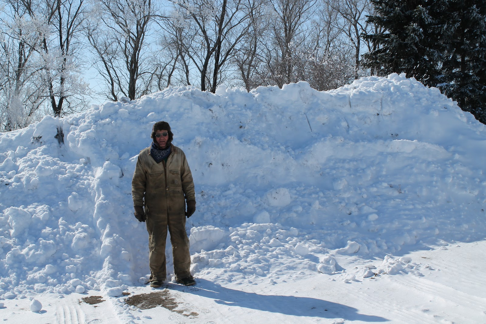 Standing in front of his handiwork for the winter of 2013.