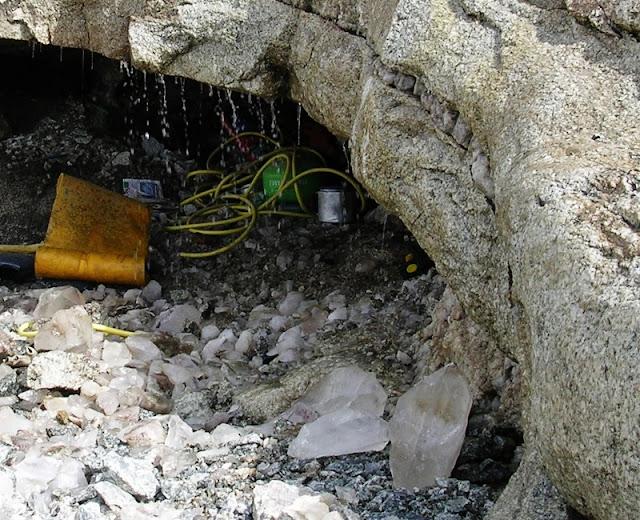 quartz découverts dans un four du Mont-Blanc
