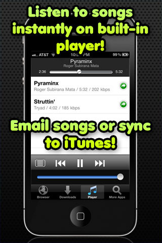 Free Music Download iphone applications