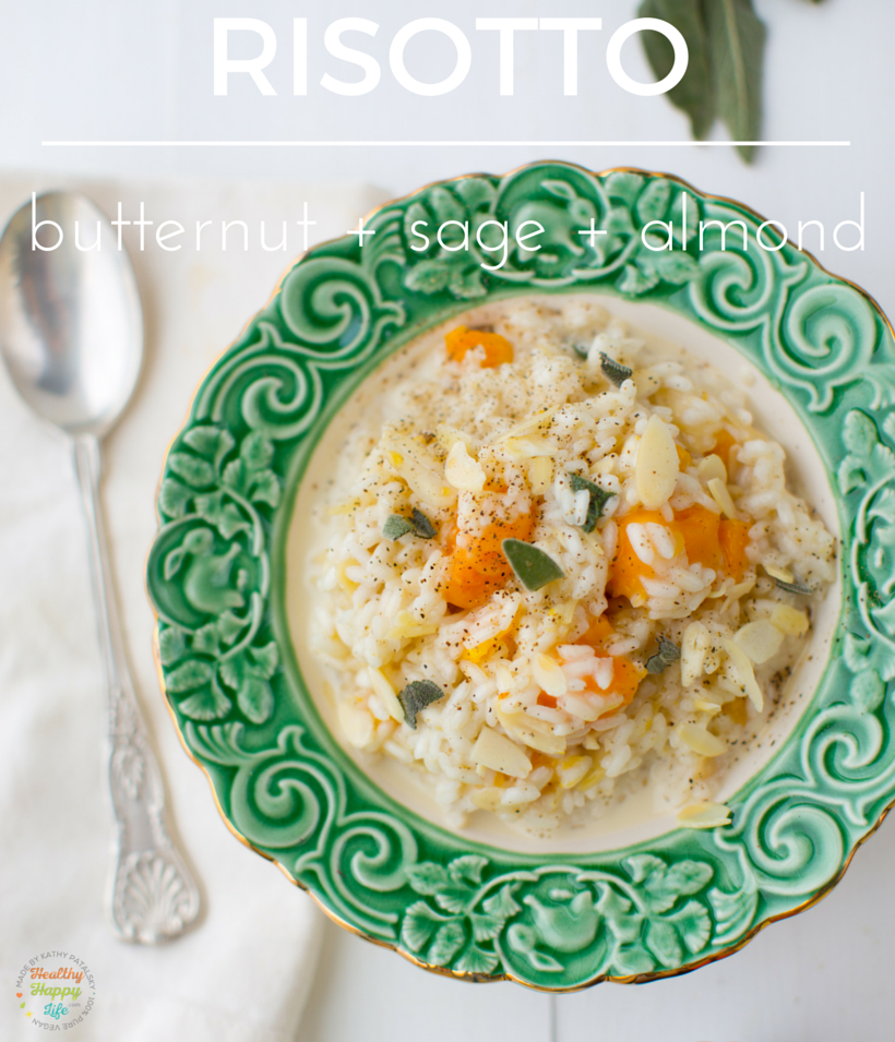 Butternut Squash Risotto Recipe, vegan