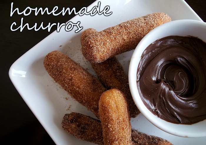 Homemade Churros and Hershey's Spreads #ad