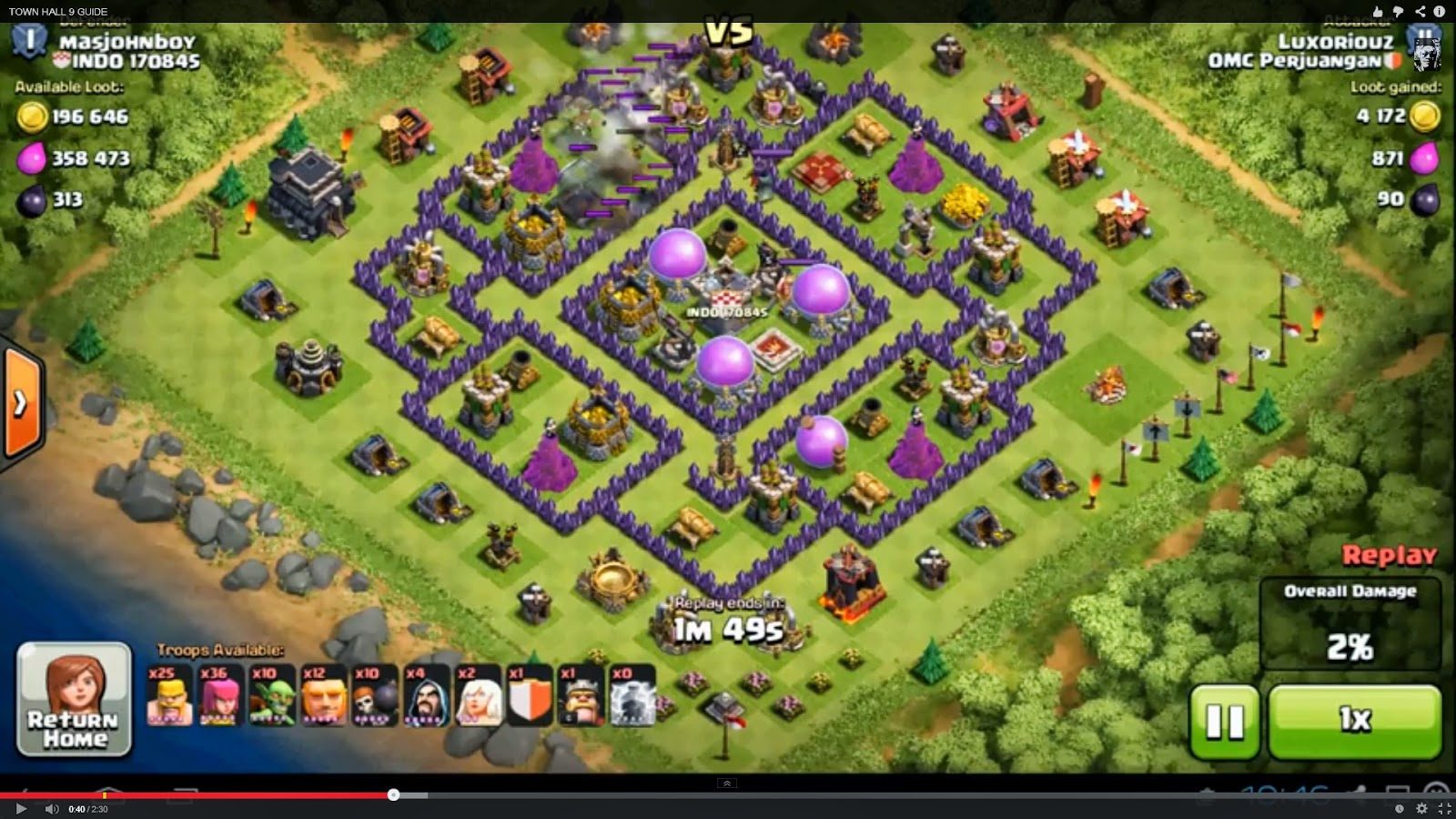 Map town hall 9 clash of clans best map town hall 9 clash of clans