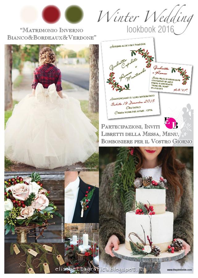 Matrimonio Bianco Natale : Elisabetta grafica winter wedding matrimonio bianco