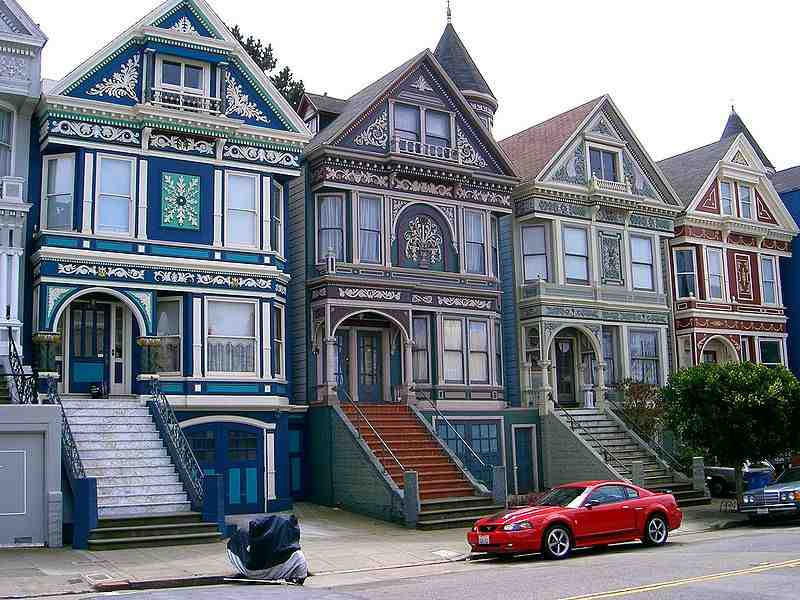 Painted Ladies Victorians San Francisco