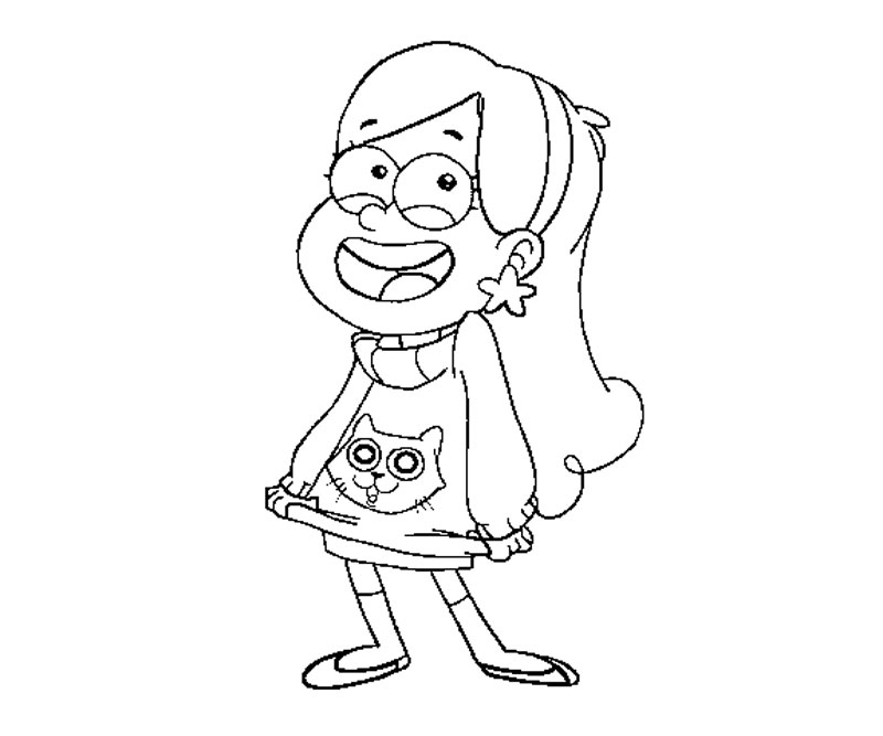 gravity falls coloring pages free - photo#16