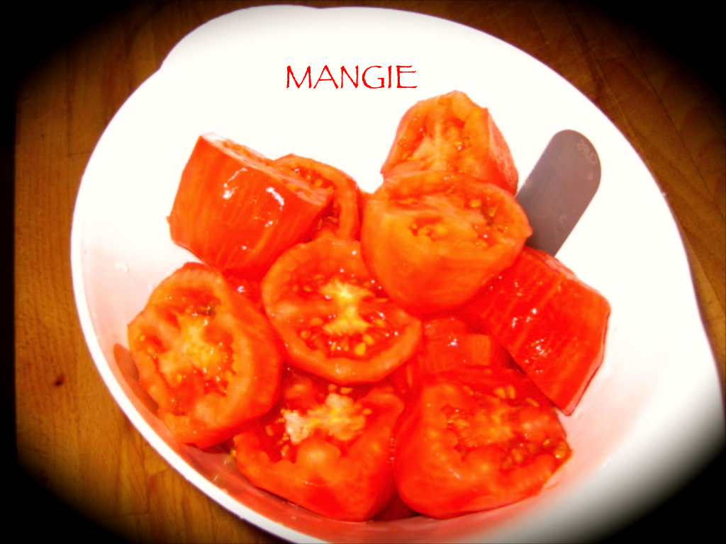 Tomates troceados