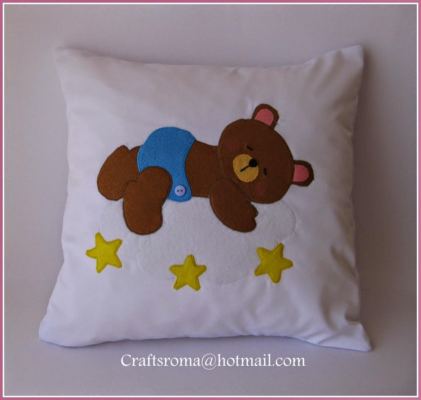Crafts roma cojines personalizados para beb s - Cojines para bebes ...