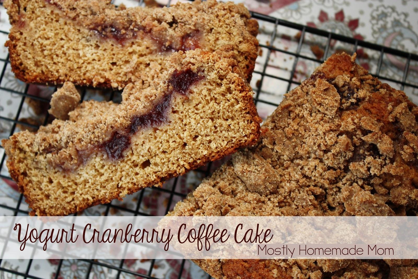 Yogurt Cranberry Coffee Cake