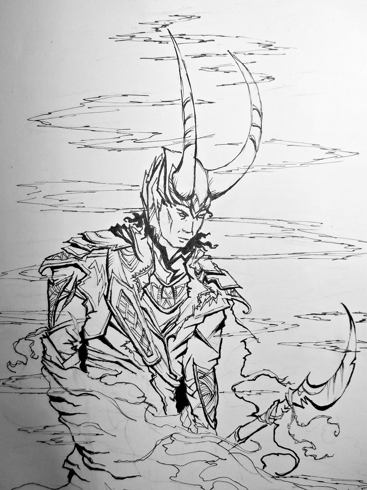 Life with sarahb loki from the avengers drawing for Colorare avengers
