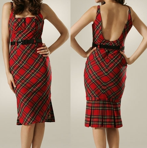 Tartan Cocktail Dress Black