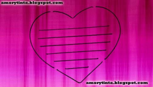 imagen de corazon con lineas para escribir notas