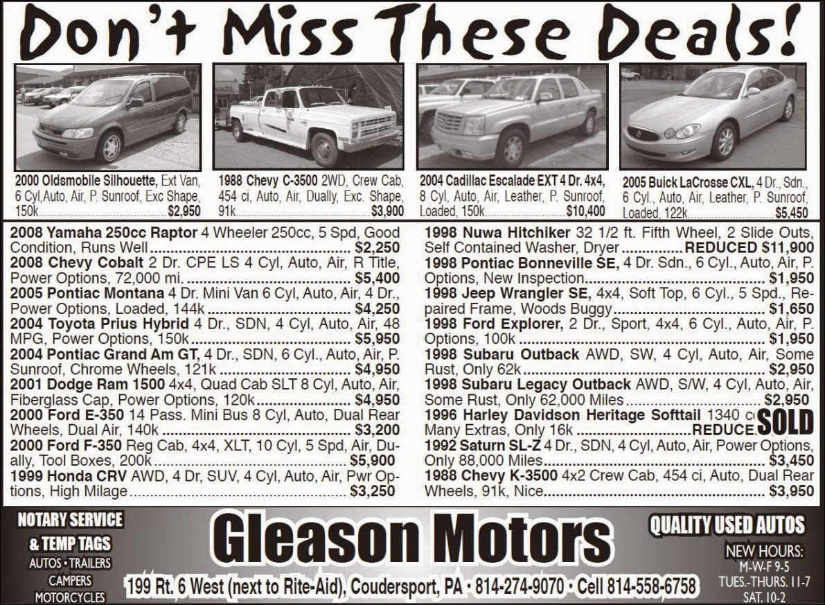 Gleason Motors Coudersport