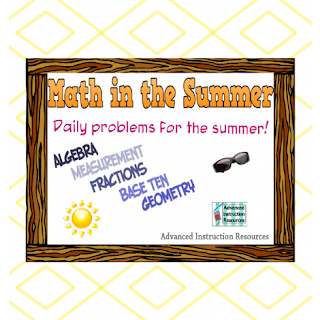 Free Summer Math Packet