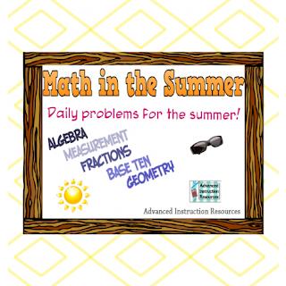 Free Summer Math Packet