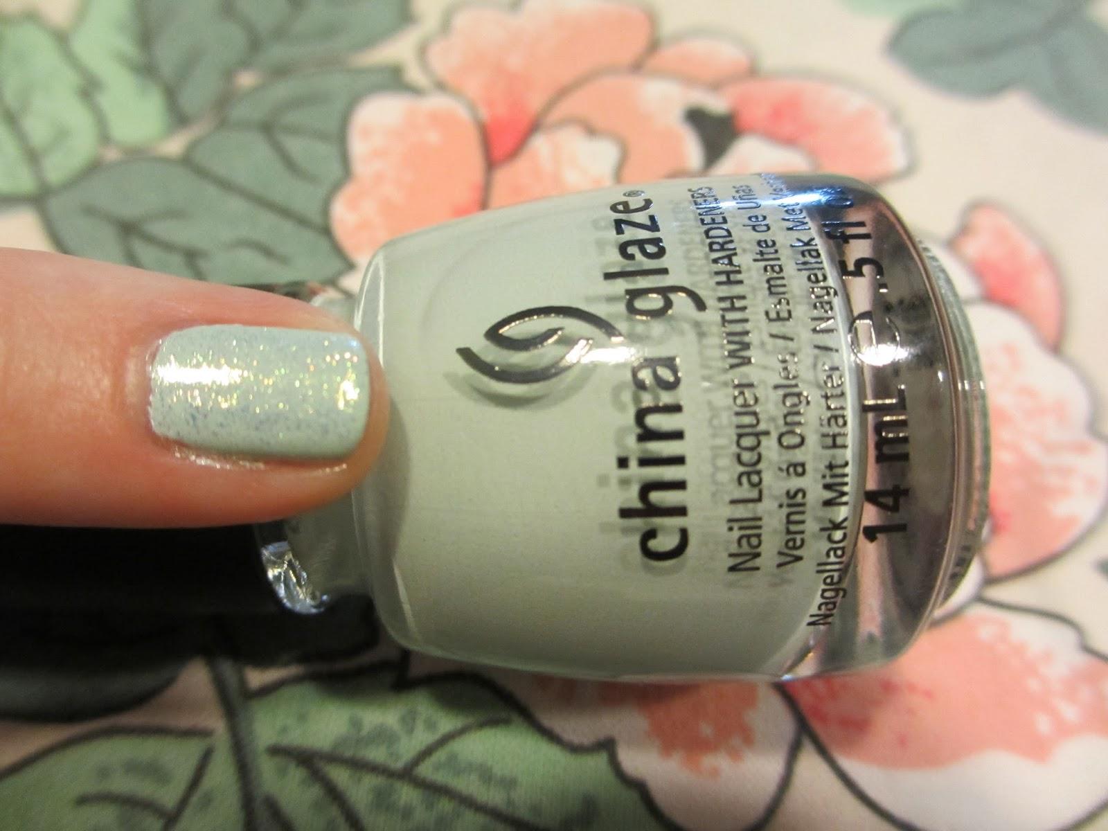 china glaze refresh-mint white cap