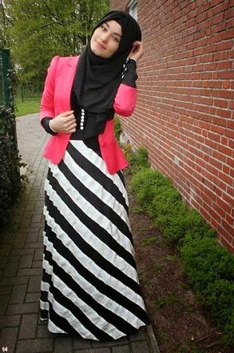 Model Busana Hijab Casual Remaja Terbaru 2017/2018