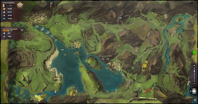 A map from Guild Wars 2