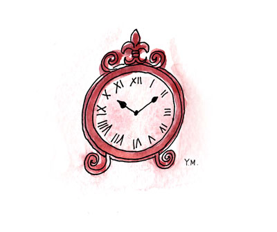 clock by Yukié Matsushita