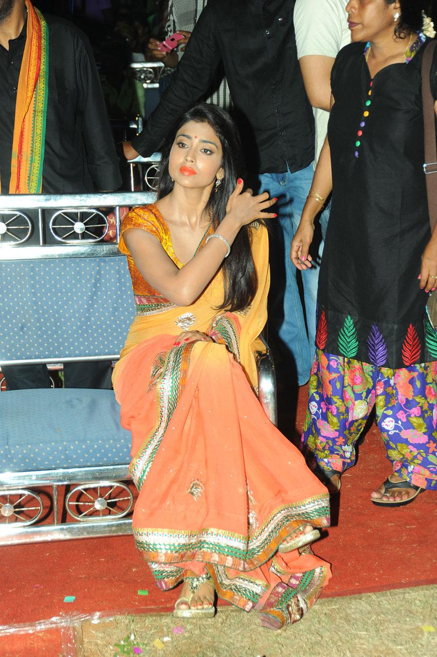 ethnic darling Shirya sara in designer saree latest photos at pavitra audio launch