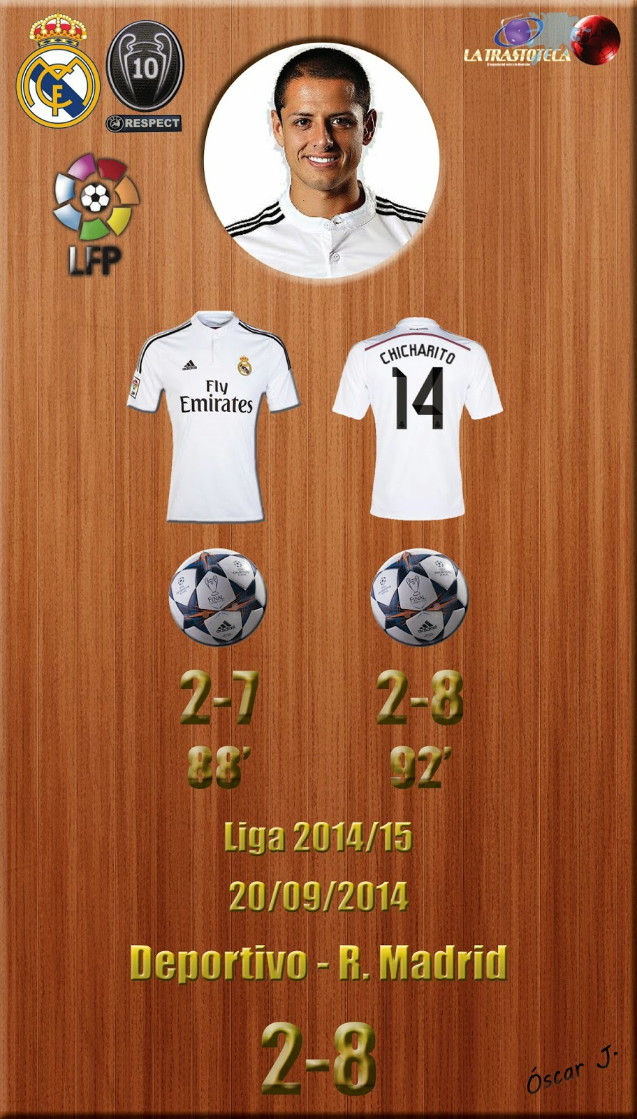 Chicharito (Un Doblete de todo un Crack del fútbol) - Liga 2014/15. Jornada 4 (20/09/2014)