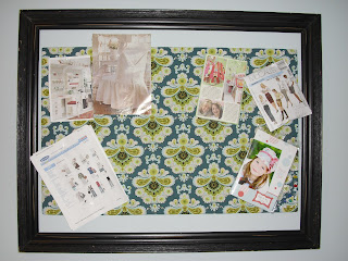 Fabric pin board tutorial, pin board tutorial