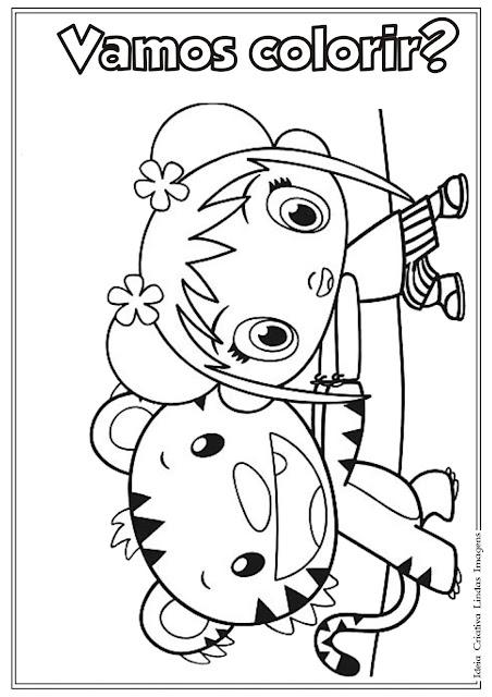 Desenho da Ni Hao Kai-lan para colorir